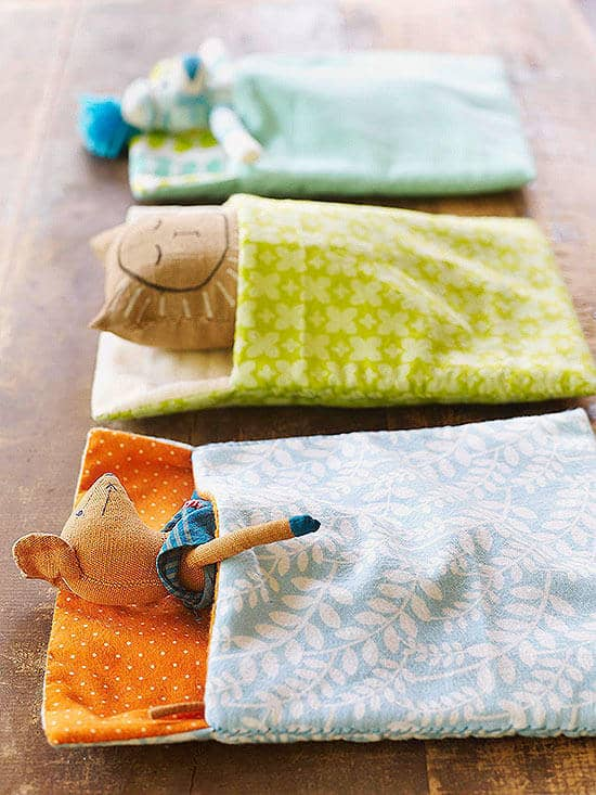 Sew a Sleeping Bag for Stuffed Animals