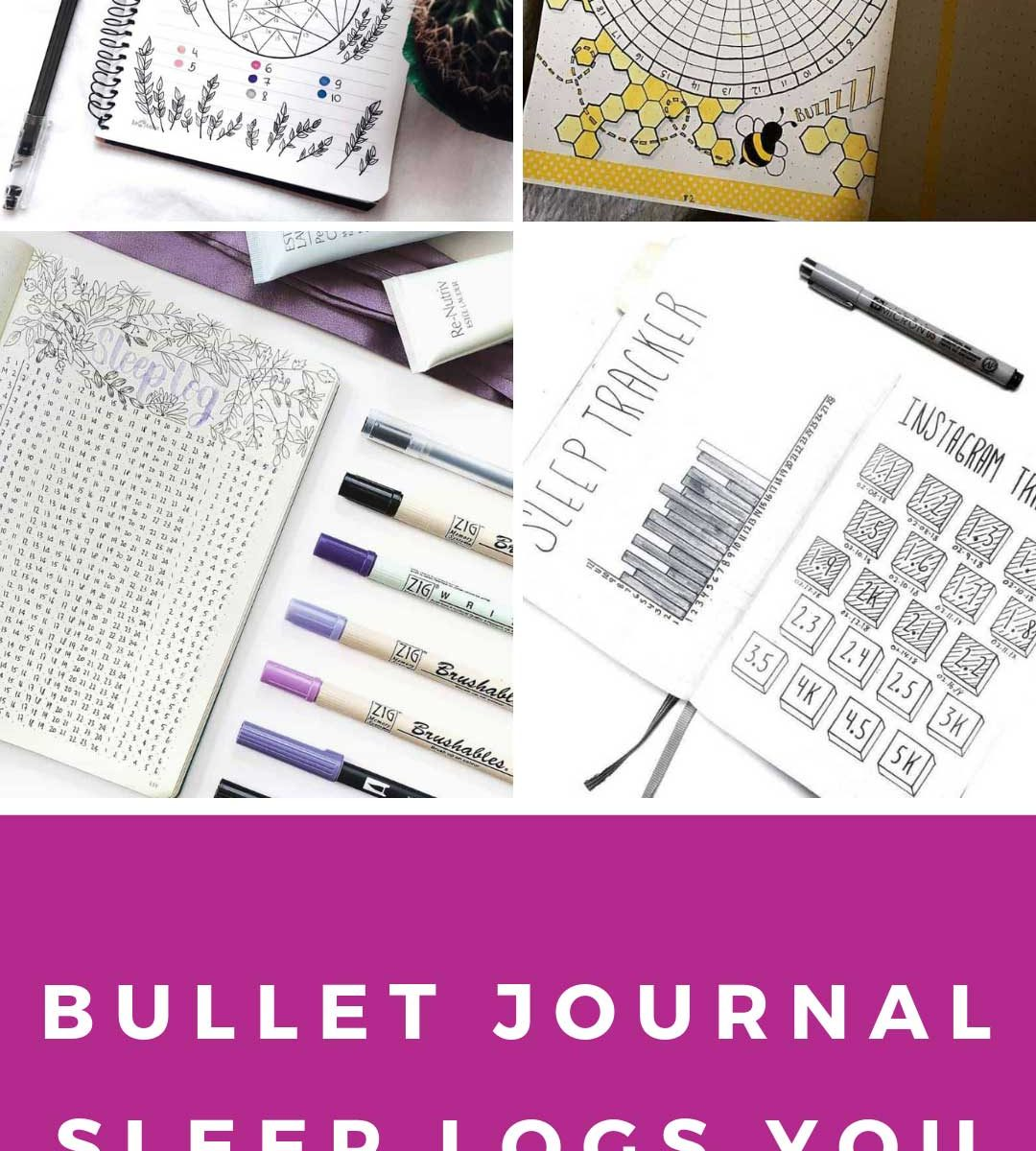 A sleep log for your bullet journal is just what you need to keep track of your rest #bulletjournal