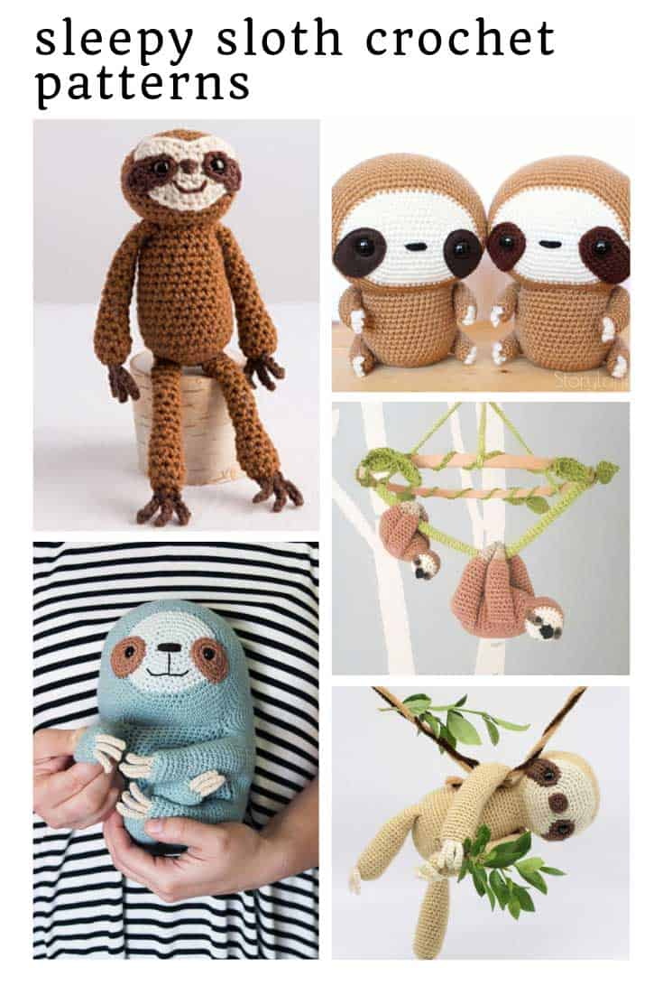 Loving these ADORABLE sleepy sloth crochet patterns!