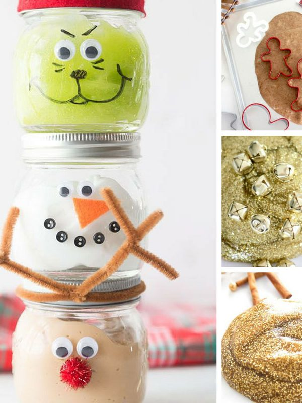Christmas Slime Recipes make the perfect stocking stuffer for kids!