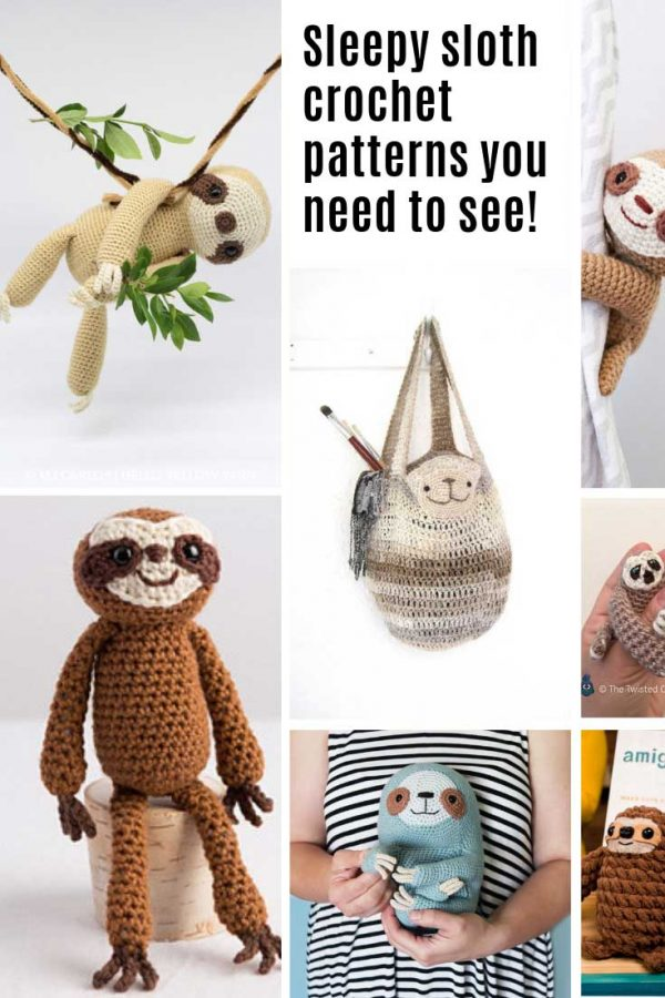 Oh my goodness these sloth crochet patterns are ADORABLE!