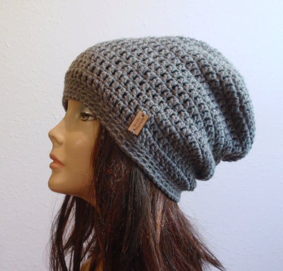Slouchy Beanie Gray Hat Ready to Wear