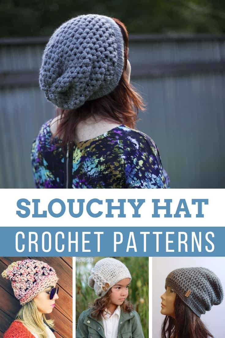 Totally Cute Crochet Slouchy Hat Patterns {for cold days and bad hair days!}