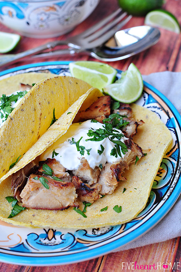 Slow Cooker Mexican Pulled Pork from http://fivehearthome.com/2014/05/01/slow-cooker-carnitas-tacos-mexican-pulled-pork/