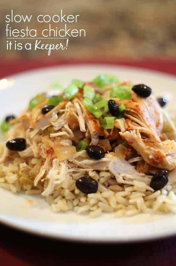 Easy Crock Pot Recipes: Fiesta Chicken