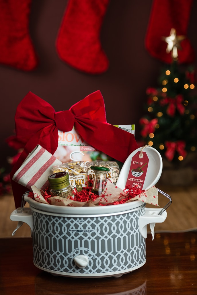 Slow Cooker Gift Basket - creative gift idea for the food lover on your list!