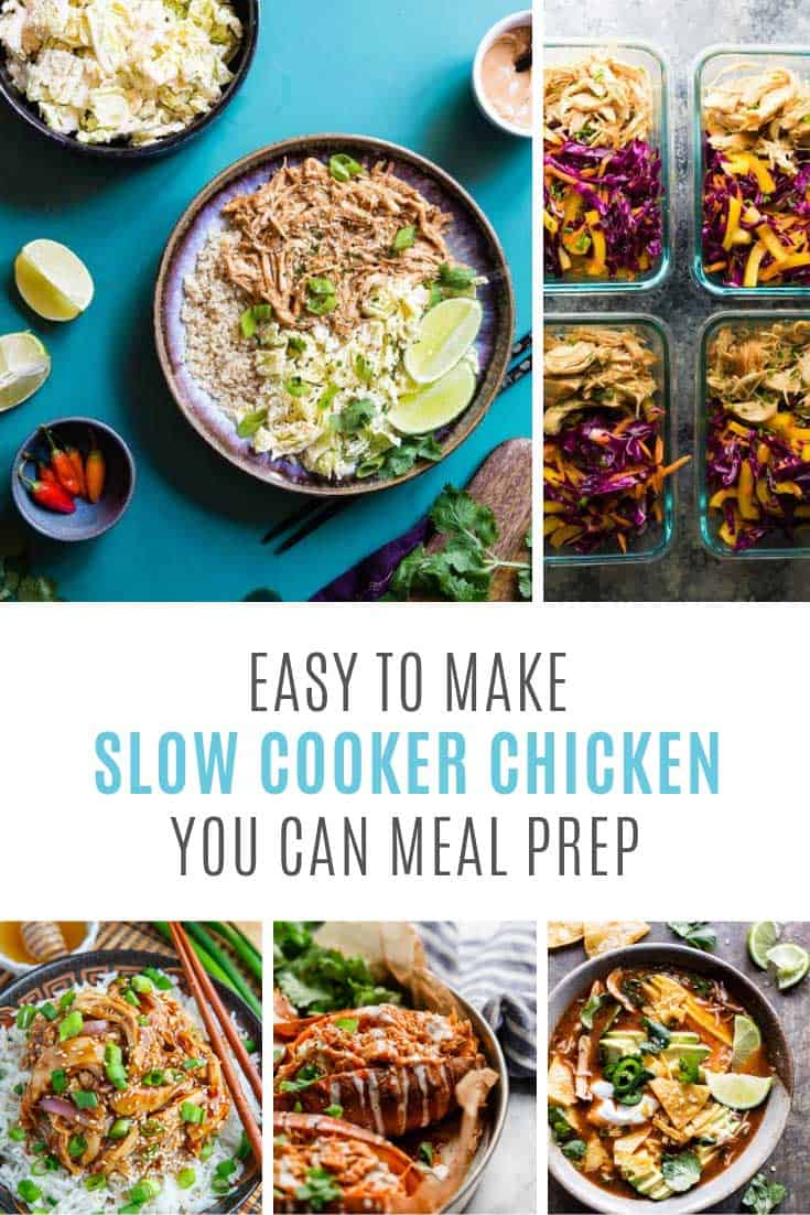 These slow cooker meal prep chicken recipes are yummy!