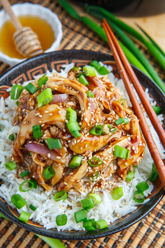 Slow Cooker Honey Garlic Sesame Chicken