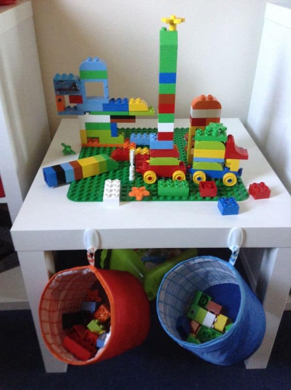 Small Lego Table with Storage Bags