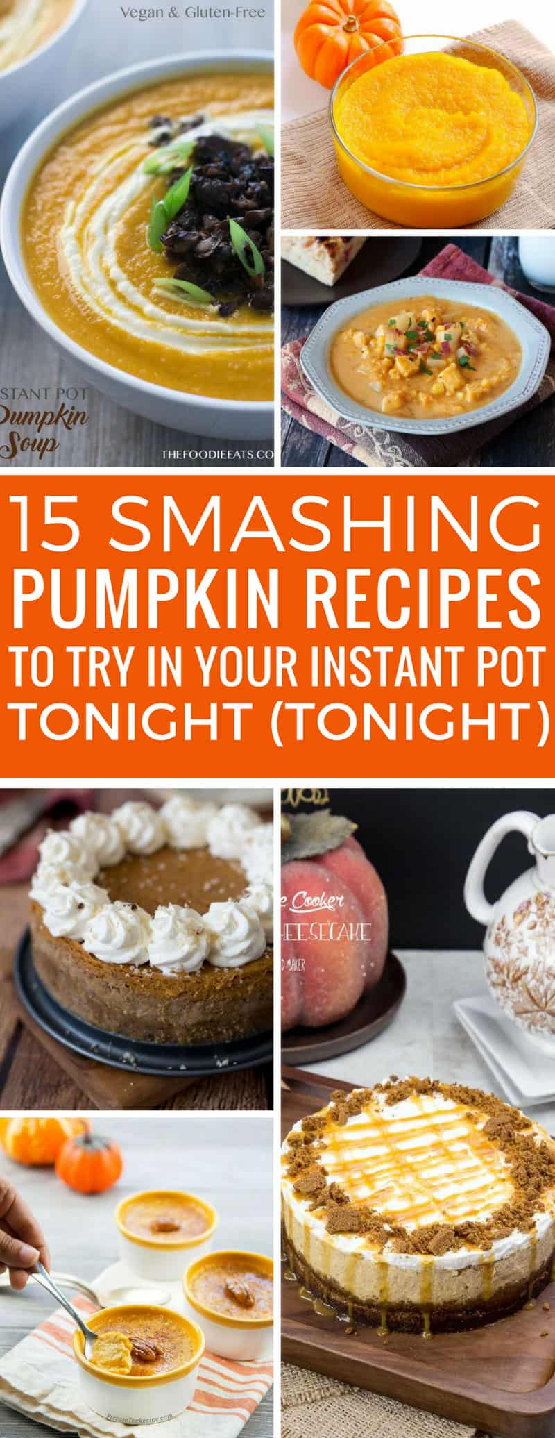 You can never have too many Instant Pot recipes and these pumpkin dinners and desserts are perfect for Fall!