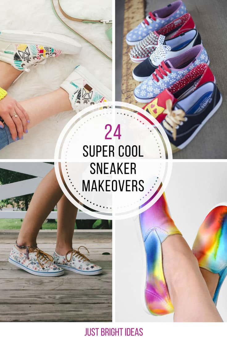So many ways to customize your own sneakers! Love it!