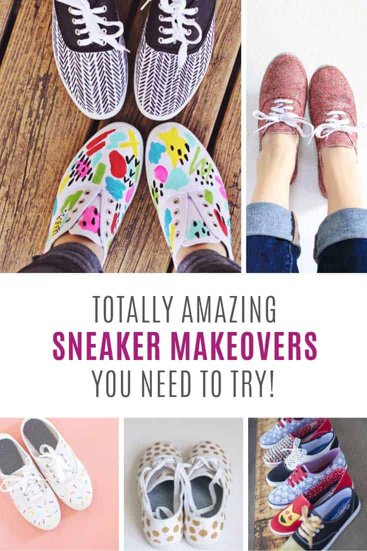 a8fbc147c6e65b These sneaker makeovers are genius - and cheaper than buying a new pair!