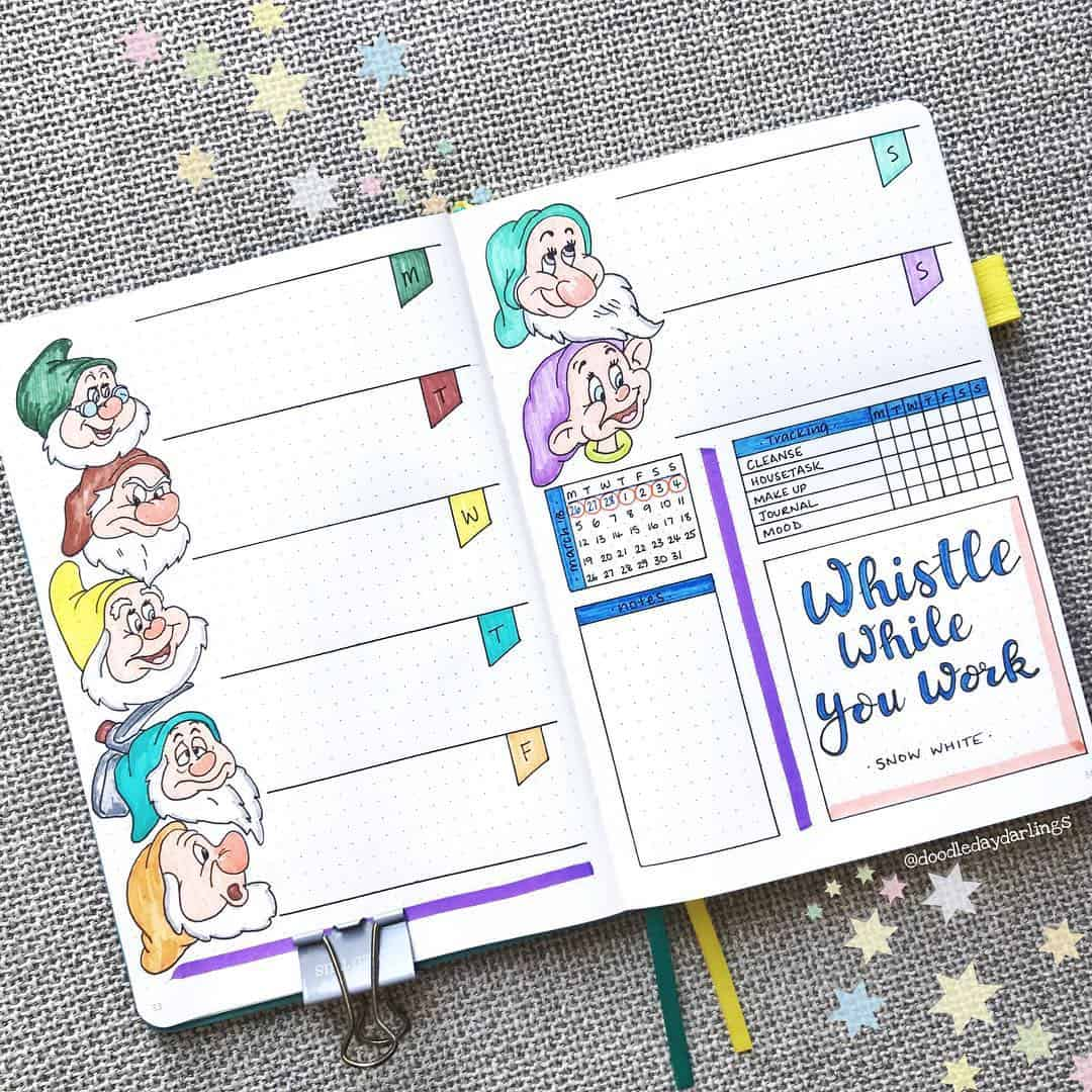 Seven Dwarves Weekly Spread