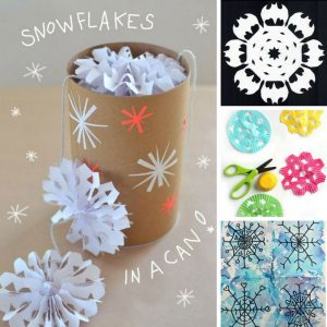 These snowflake crafts are so much fun - and perfect for snow days!