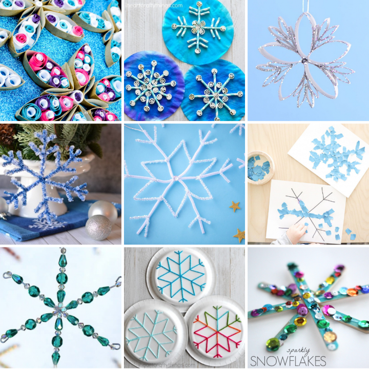 22 Easy Snowflake Crafts for Kids of All Ages to Have Fun With