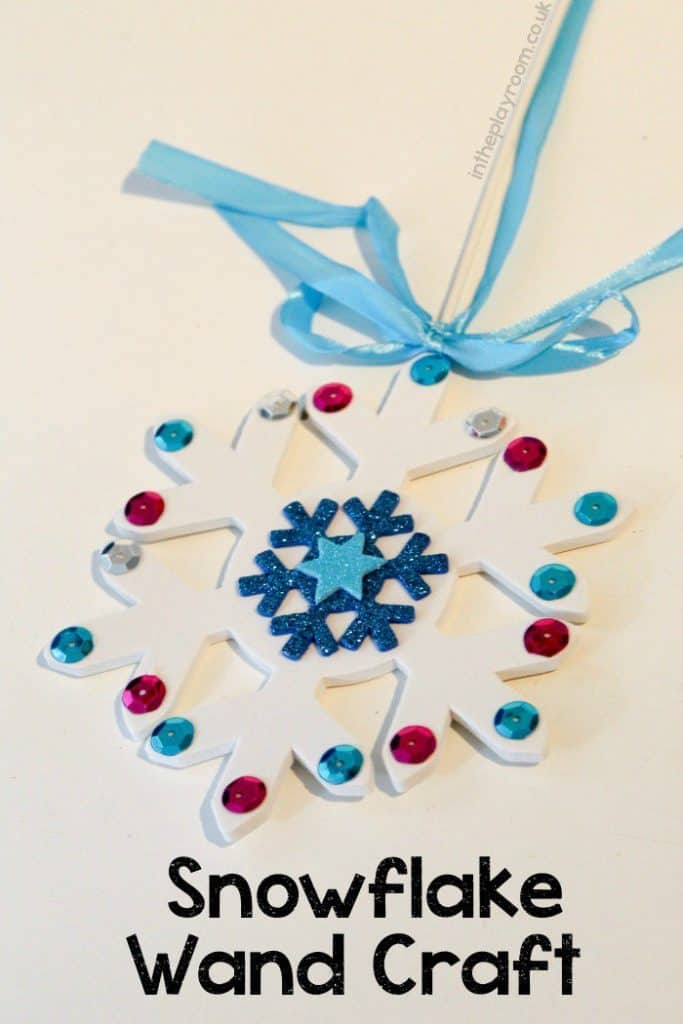 PERFECT Snowflake craft for fans of FROZEN!