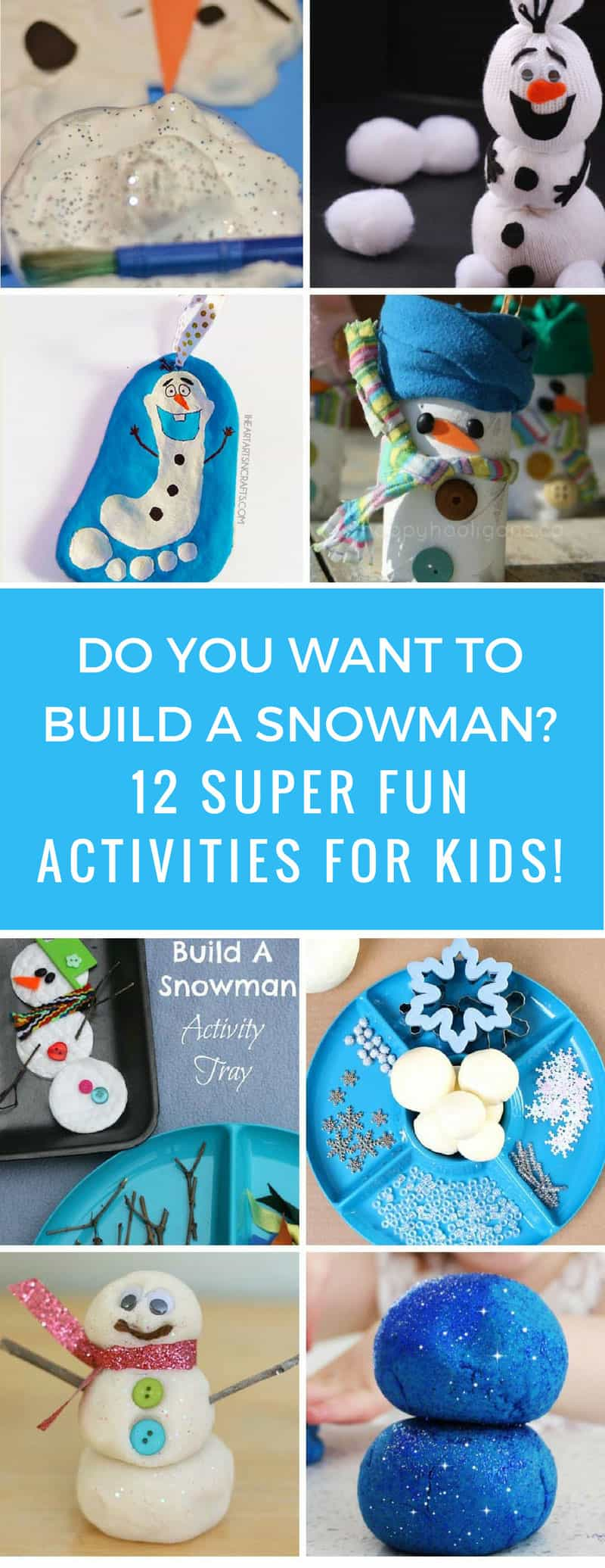 How fun! These snowman crafts will keep us busy through the winter until we can build a real snowman! Thanks for sharing!