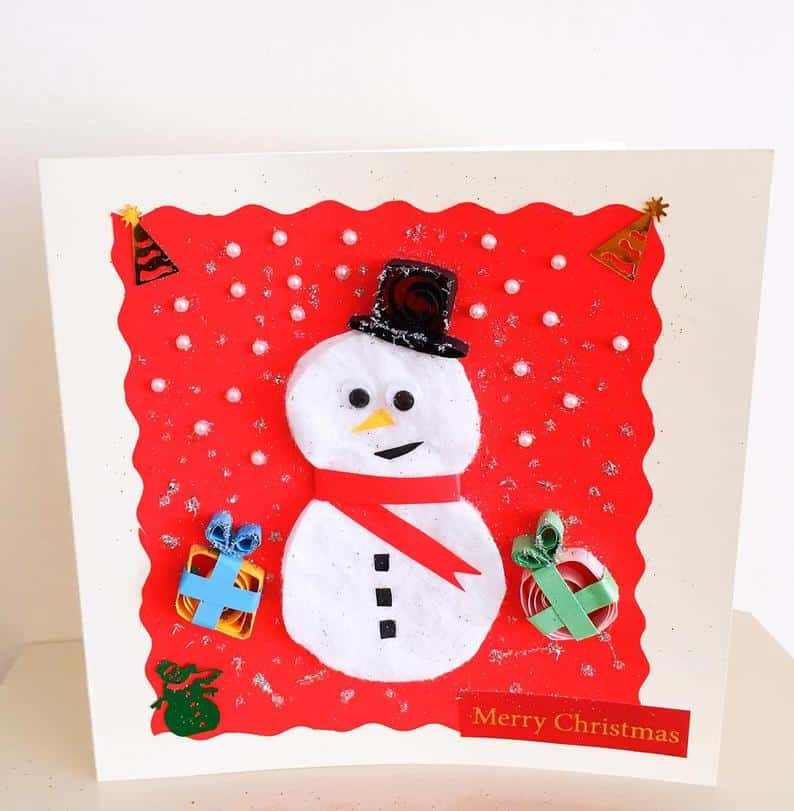 Handmade 3D Quilled Christmas Cards