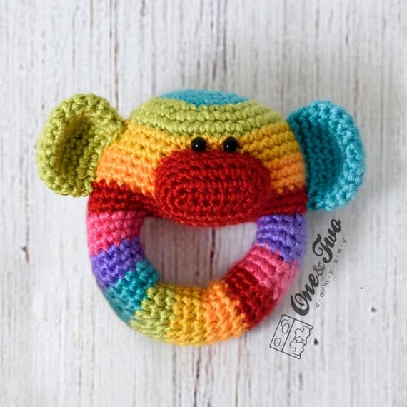 Sock Money Baby Rattle Crochet Pattern