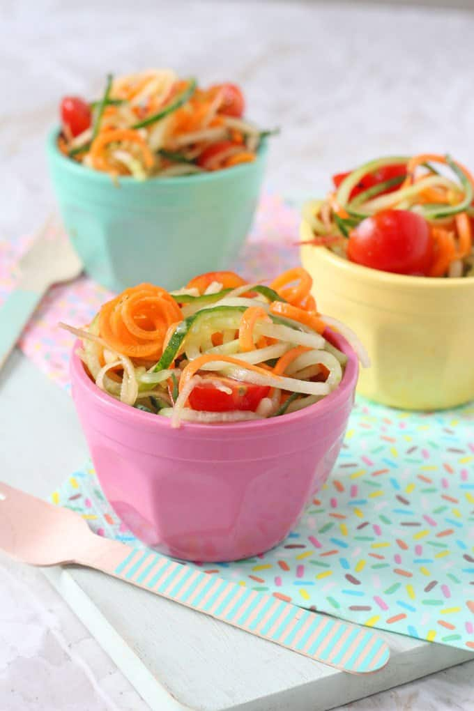 Spiralized Salad For Kids