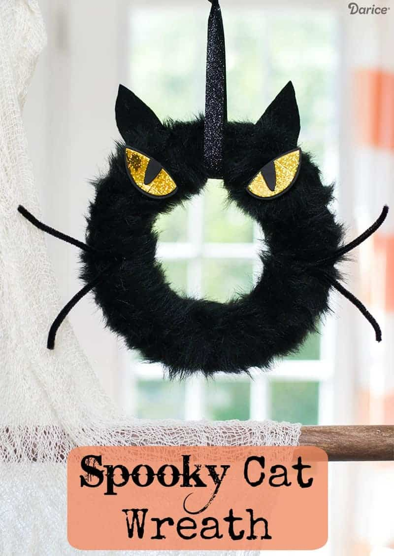 Spooky Cat Wreath