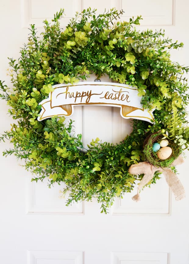 Simple DIY Spring Easter Wreath