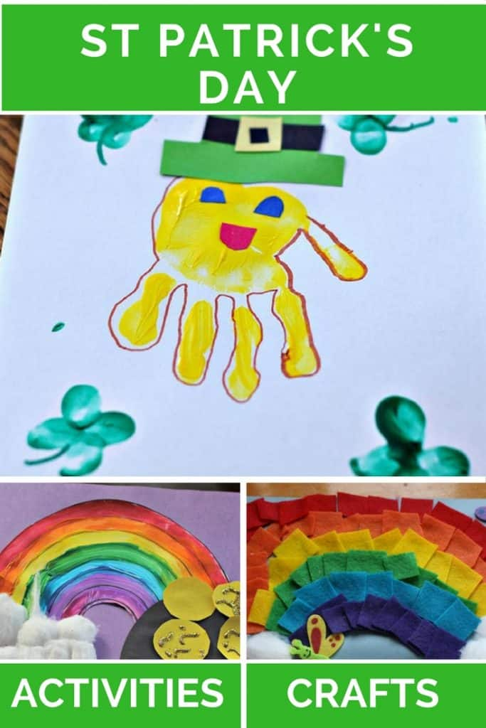 St Patrick's Day | Crafts | Activities | Leprechaun | Rainbow | Pot of Gold | Shamrock | Toddler | Preschooler