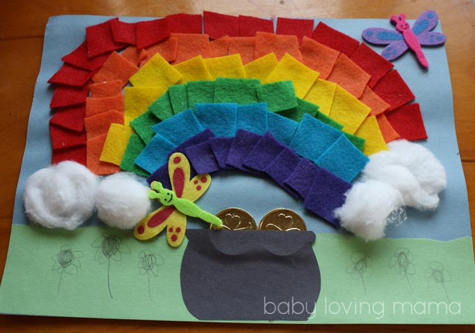 Felt Rainbow with a Pot of Gold: A St. Patrick's Day Craft Tutorial - Baby Loving Mama
