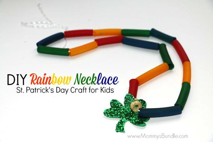 DIY Rainbow Necklace for St. Patrick's Day - Mommy's Bundle