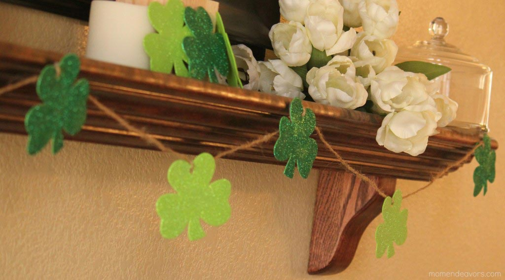 Quick & Easy DIY Shamrock Garland - Mom Endevours