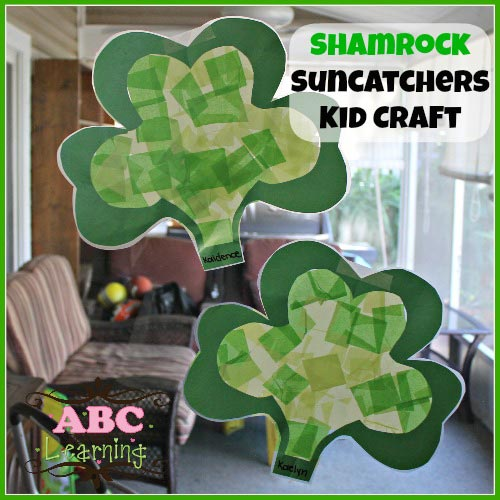 St. Patrick's Day Shamrock Craft - Mess For Less