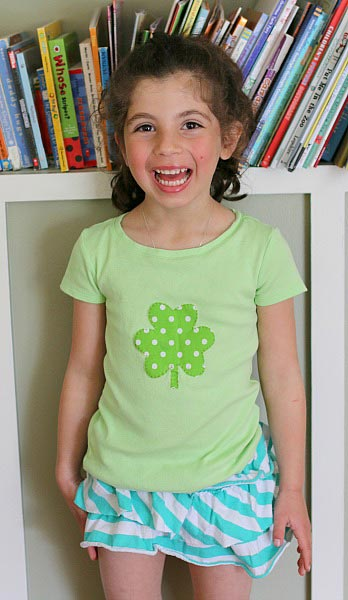 DIY Applique Shirt for St. Patrick's Day - Buggy and Buddy