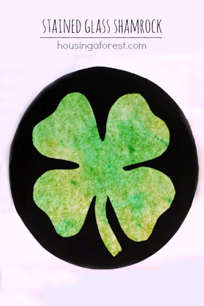 Stained Glass Shamrock Craft - Housing A Forest