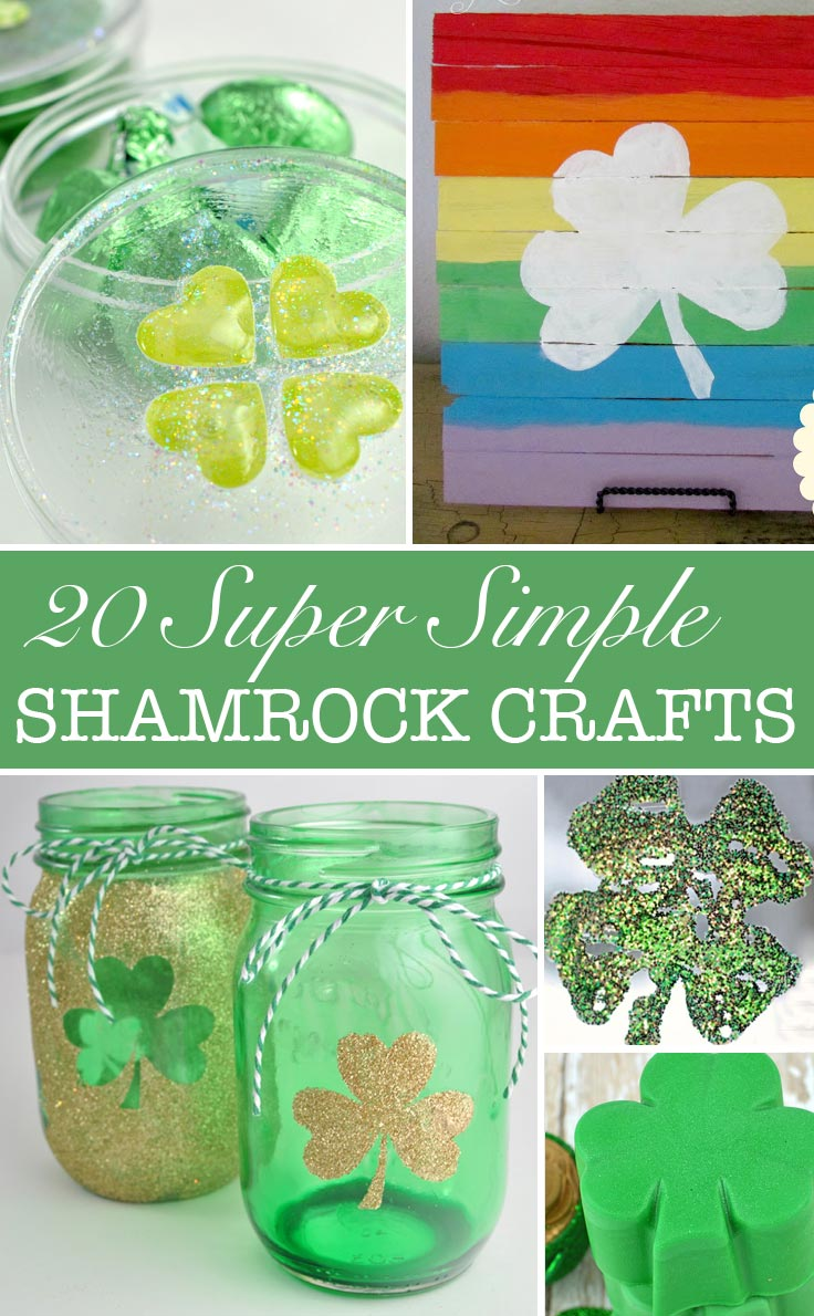 Loving these super simple shamrock crafts - perfect for St Patrick's Day!
