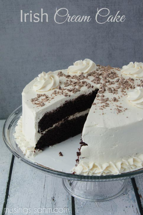 The Best Irish Cream Cake with Real Whipped Cream & Bailey's - Musings From a Stay At Home Mom