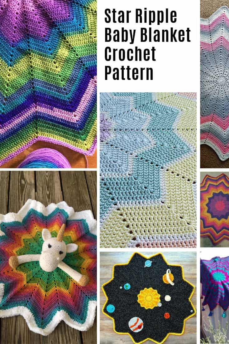 This star rippled baby blanket crochet pattern is free and so versatile!