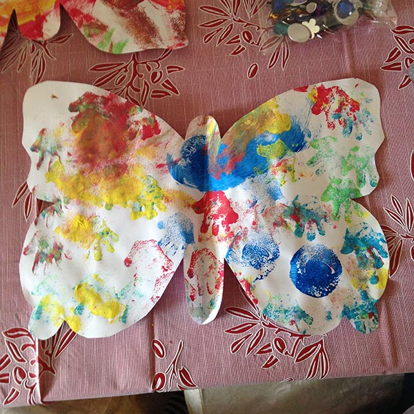 This is how your painted butterfly will look