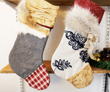 DIY Mixed-Print Fur Stockings