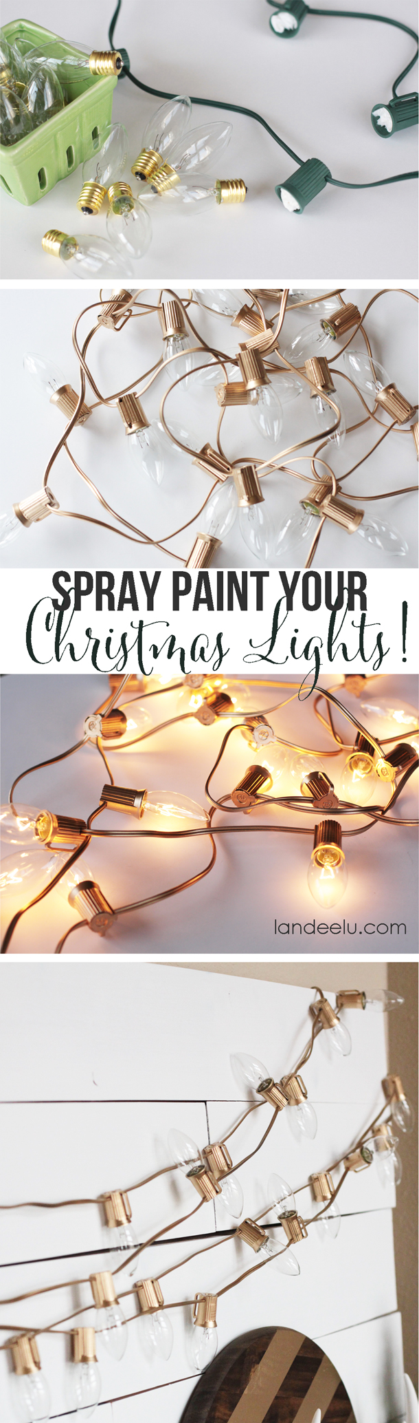 Decorate Your Mantel Piece with Gold Lights