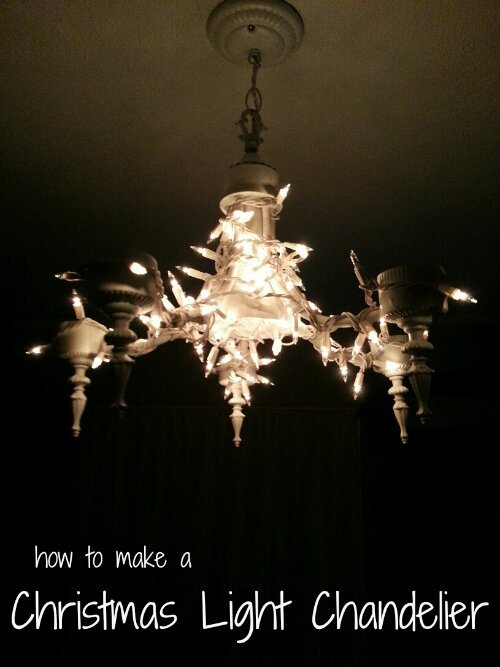 Make a Christmas Light Chandelier