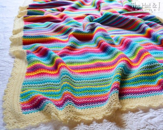 Stripe Vintage Blanket Crochet Pattern