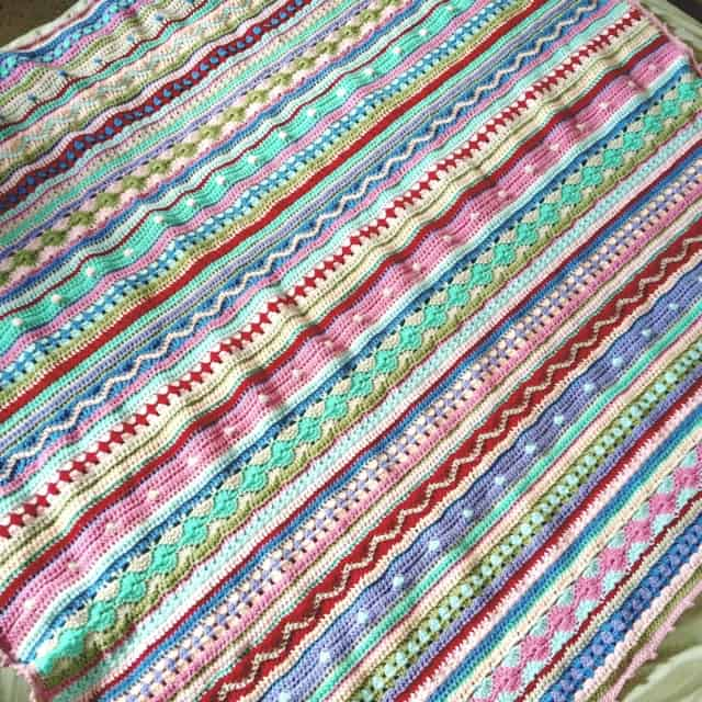 Stripey Blanket Crochet Pattern