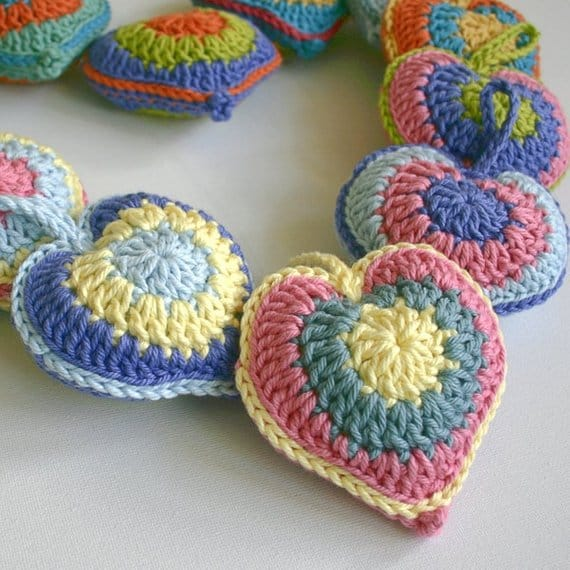 Stuffed Heart Crochet Pattern