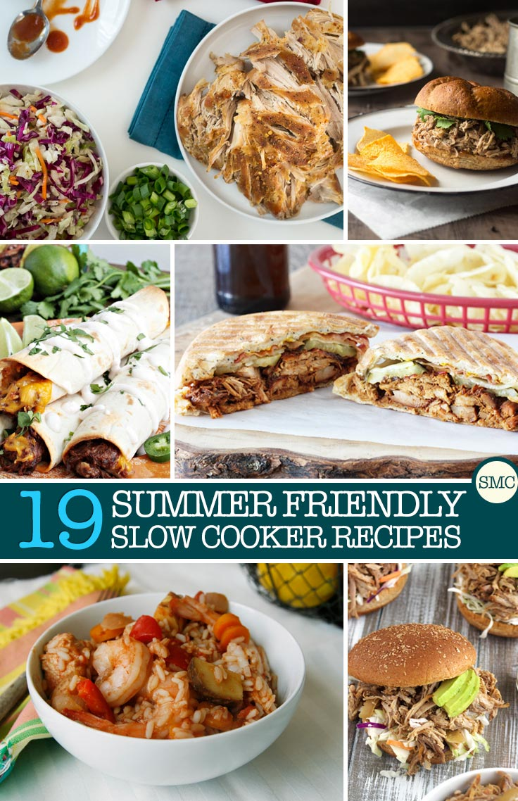 Just because the sun is shining doesn't mean you need to banish your slow cooker to the back of the cupboard. Slow cooker recipes are perfect for hot days because they don't heat up your kitchen like the oven does, and you can let the slow cooker do it's work while you get out and enjoy the weather with your family. Because I'm sure you have so many things you'd rather be doing than preparing dinner while the sun is shining the recipes in this collection all go straight in the slow cooker, with no pre cooking required!