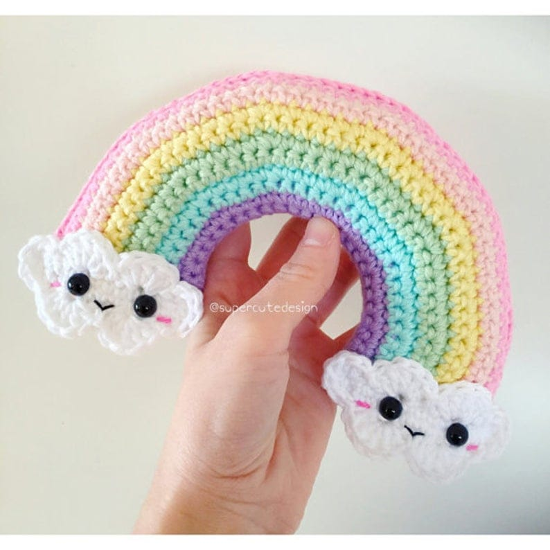 This happy rainbow crochet pattern works up quickly and is sure to make you smile