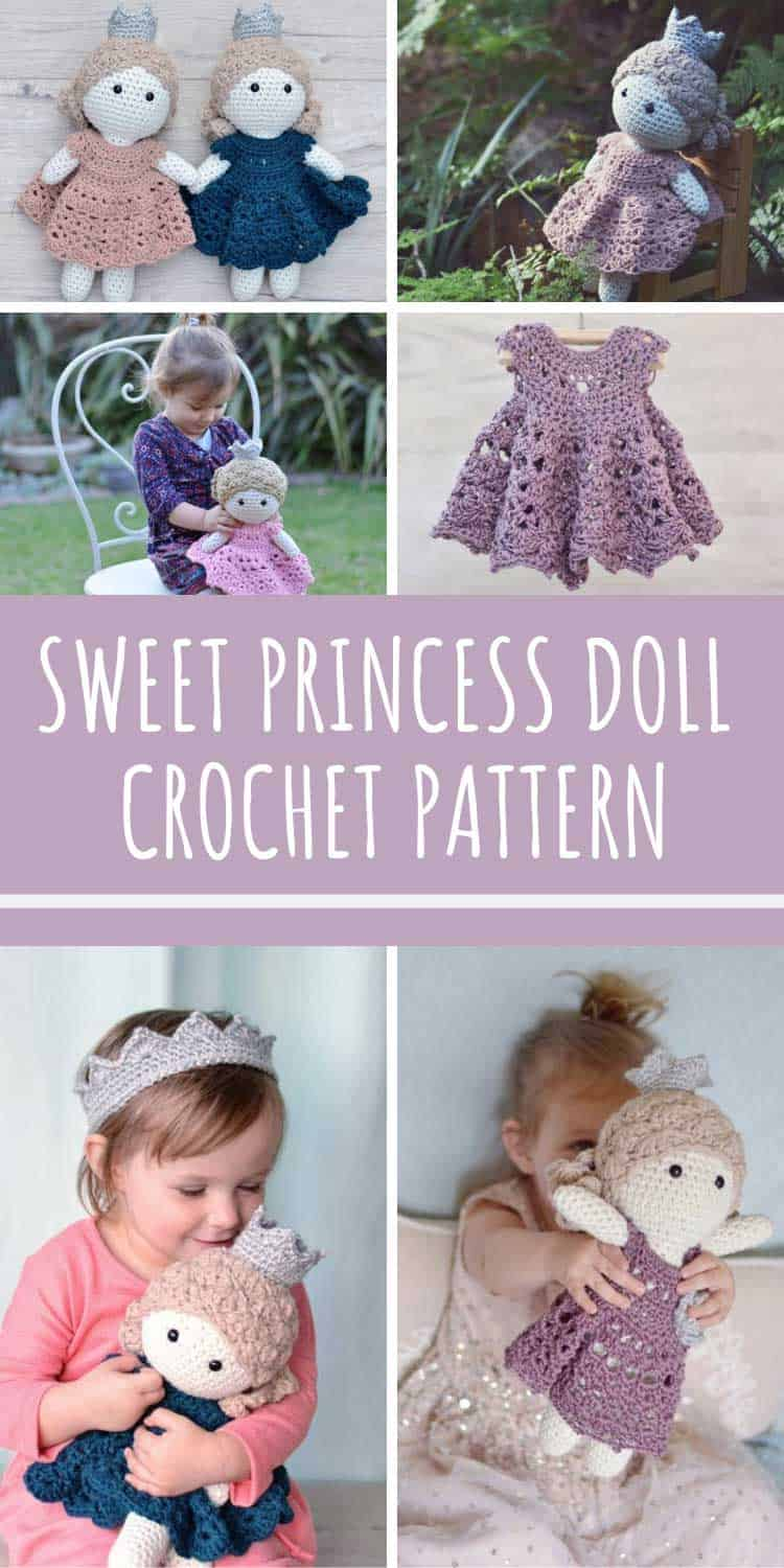 This sweet princess is the most ADORABLE thing! You just have to add this crochet pattern to your list!
