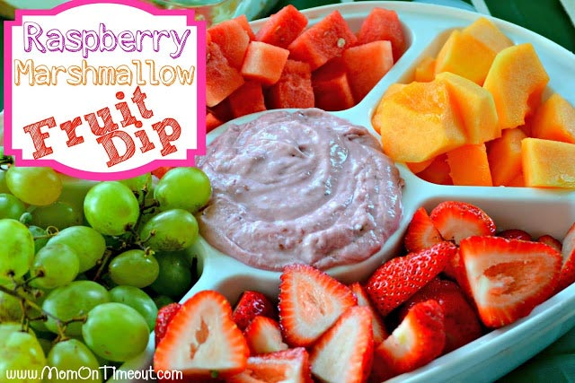 Raspberry-Marshmallow Fruit Dip Recipe