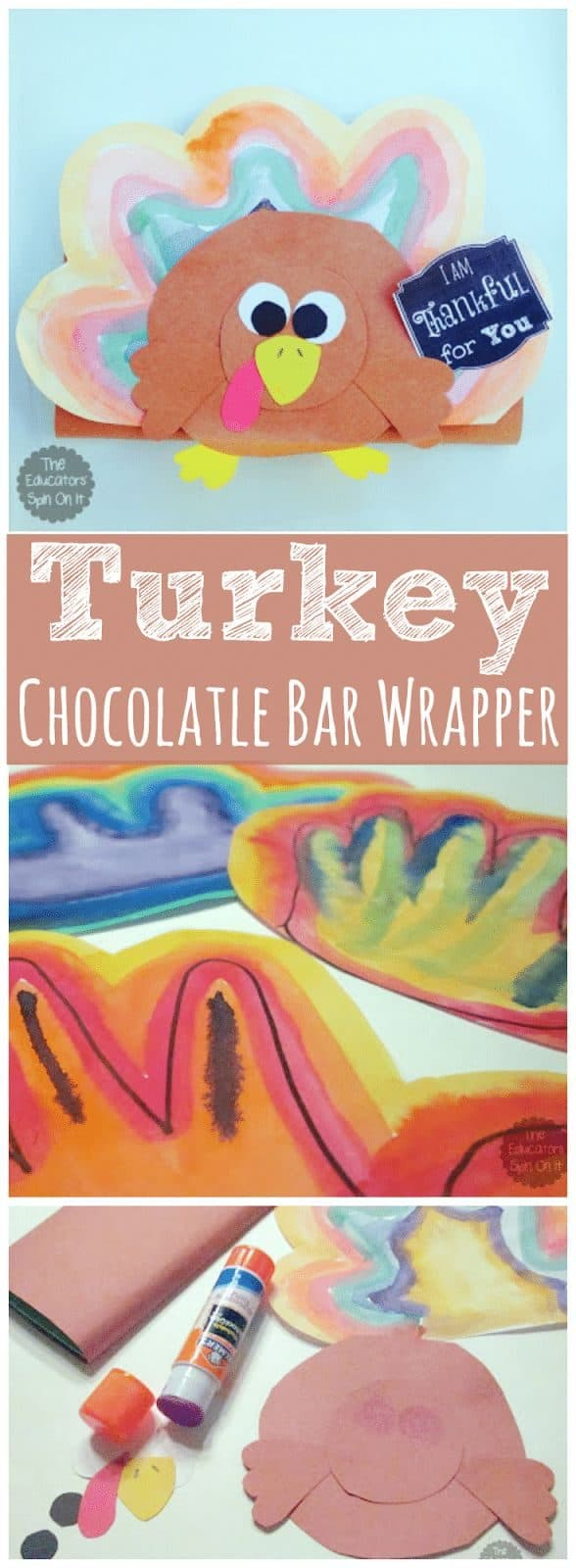 T is for Turkey Craft Chocolate Bar Wrapper