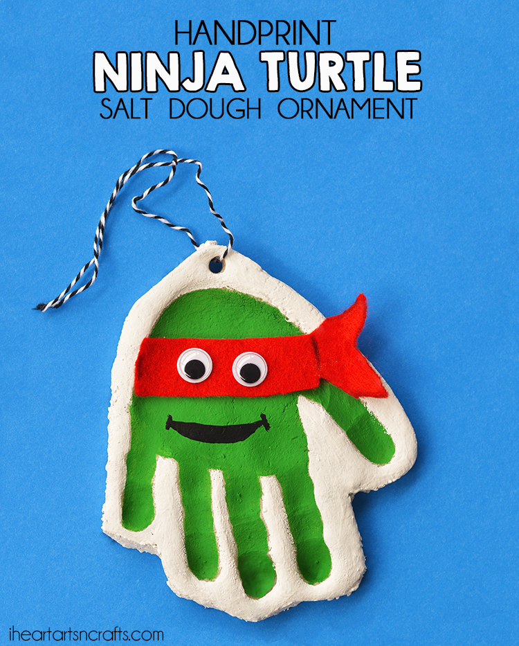 Handprint Teenage Mutant Ninja Turtle Salt Dough Ornament