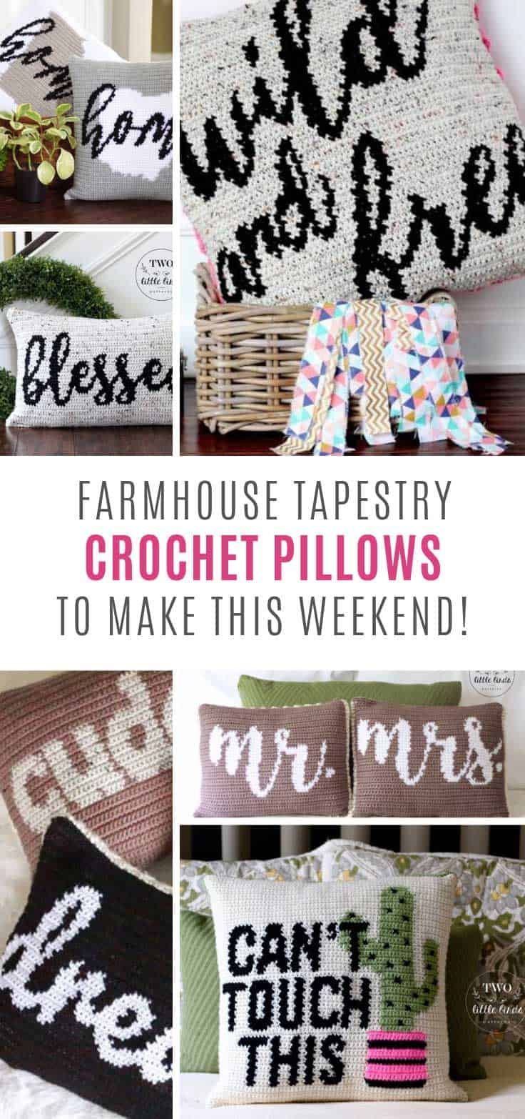 Channel your inner Joanna Gaines with these gorgeous tapestry crochet pillow patterns!